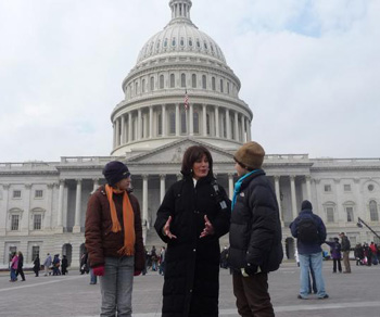 Teen Press members also put their interview skills to use with Santa Barbara County Supervisor Janet Wolf, in Washington, D.C. for the inauguration of President Barack Obama.