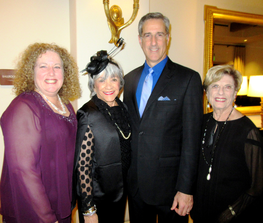 Congregation B'nai B'rith board president Judi Koper, left, honorary co-chair Adele Rosen, honoree Cantor Mark Childs and honorary co-chair Ruth Hartzman at CBB's Dreamers Ball on Jan. 22 at Bacara Resort & Spa.
