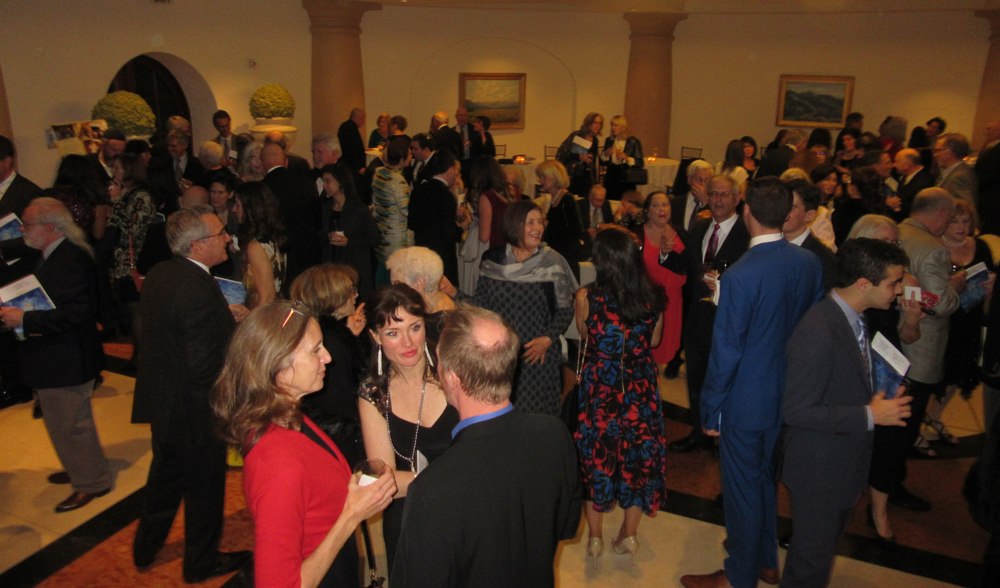 More than 450 guests fill the foyer of the ballroom at Bacara Resort & Spa.