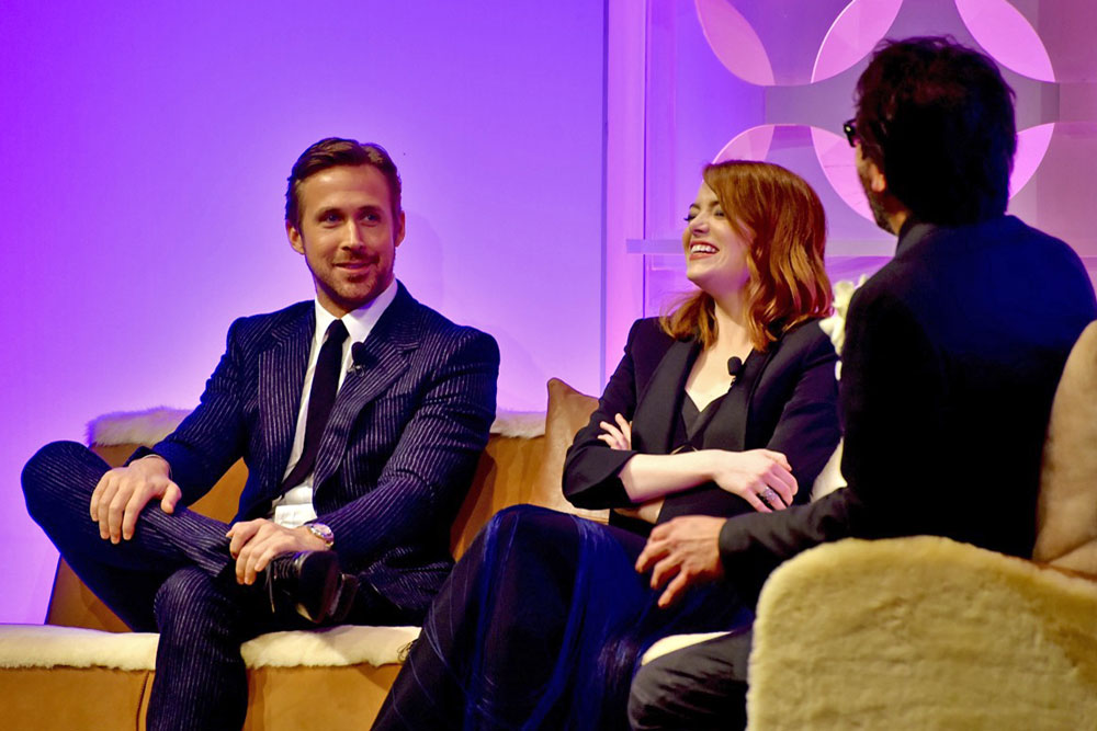 Ryan Gosling and Emma Stone were honored Friday night as Outstanding Performers of the Year award by the Santa Barbara International Film Festival.