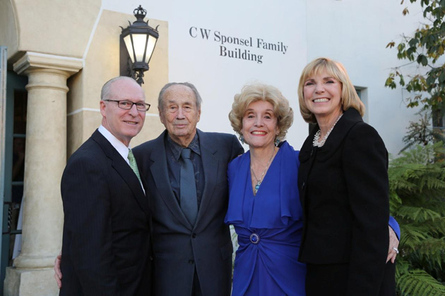 Visiting Nurse & Hospice Care Foundation Executive Director Rick Keith, left, and VNHC President/CEO Lynda Tanner, left, with Cliff and Juliette Sponsel, who sponsored the organization's new building in downtown Santa Barbara. (Visiting Nurse & Hospice Care photo)