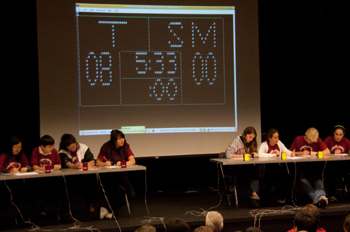 Ninth- and 10th-graders from Thacher and San Marcos high schools face off in the college bowl finals, but the game was later nulled after it was determined that Thacher should have competed against Dos Pueblos in the event