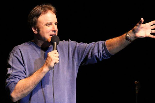 Comedian Kevin Nealon performs new stand-up material for an upcoming comedy special on Showtime during a show Jan. 27 at the Lobero Theatre in Santa Barbara.