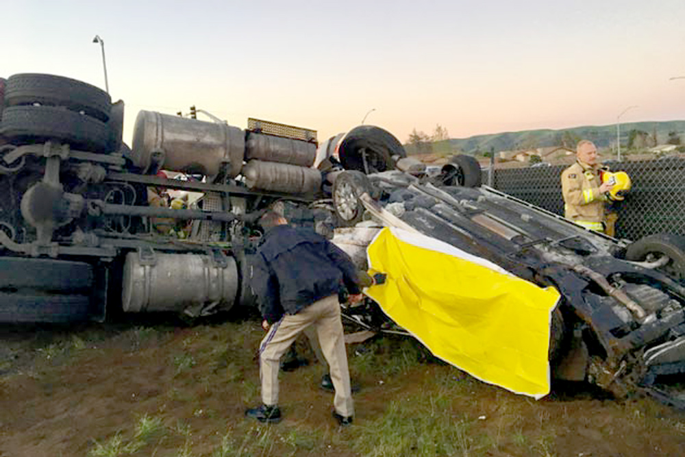 Big-Rig Driver Charged with Murder for Highway 135 Crash