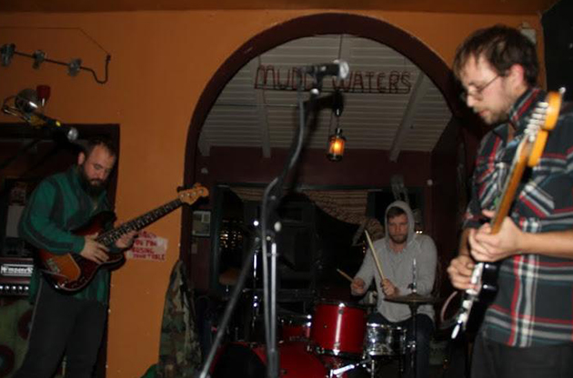 <p>Drummer Dana Janssen, guitarist Seth Olinsky and bass player Miles Seaton of the Akron/Family band perform an intimate show at the Muddy Waters Coffee House in Santa Barbara. <a href=