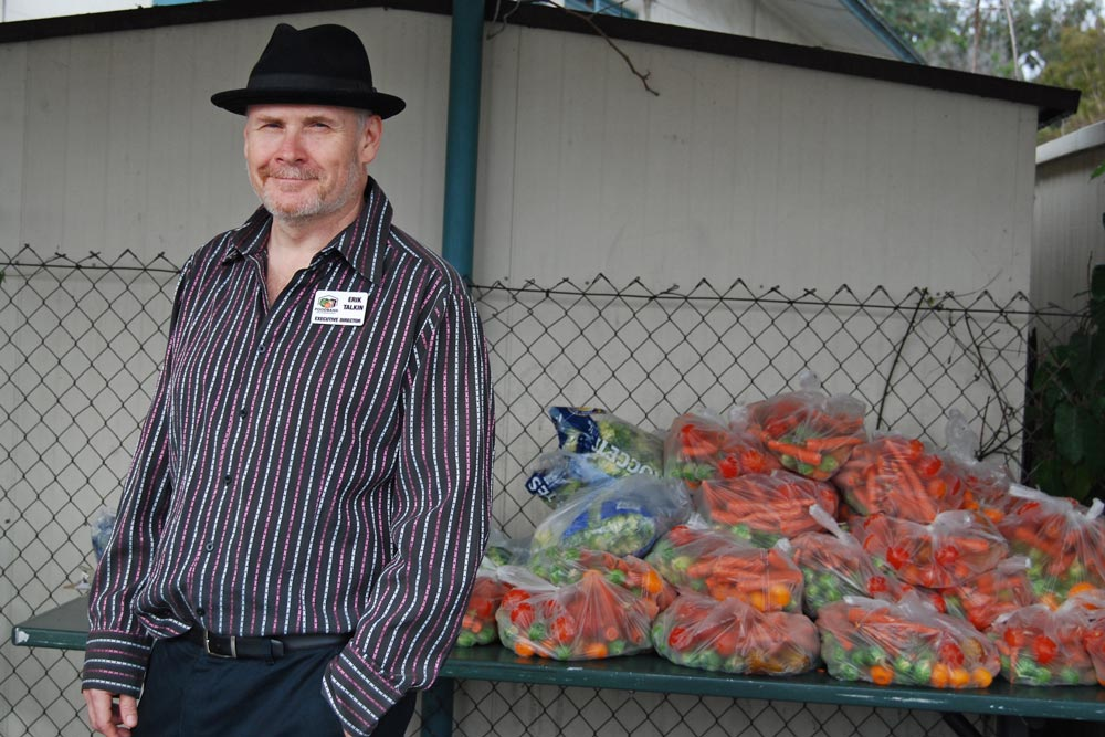 Erik Talkin, CEO of the Foodbank of Santa Barbara County, recently started his third month-long Food Security Challenge to bring attention to the 23,918 food-insecure seniors his organization serves in the community.