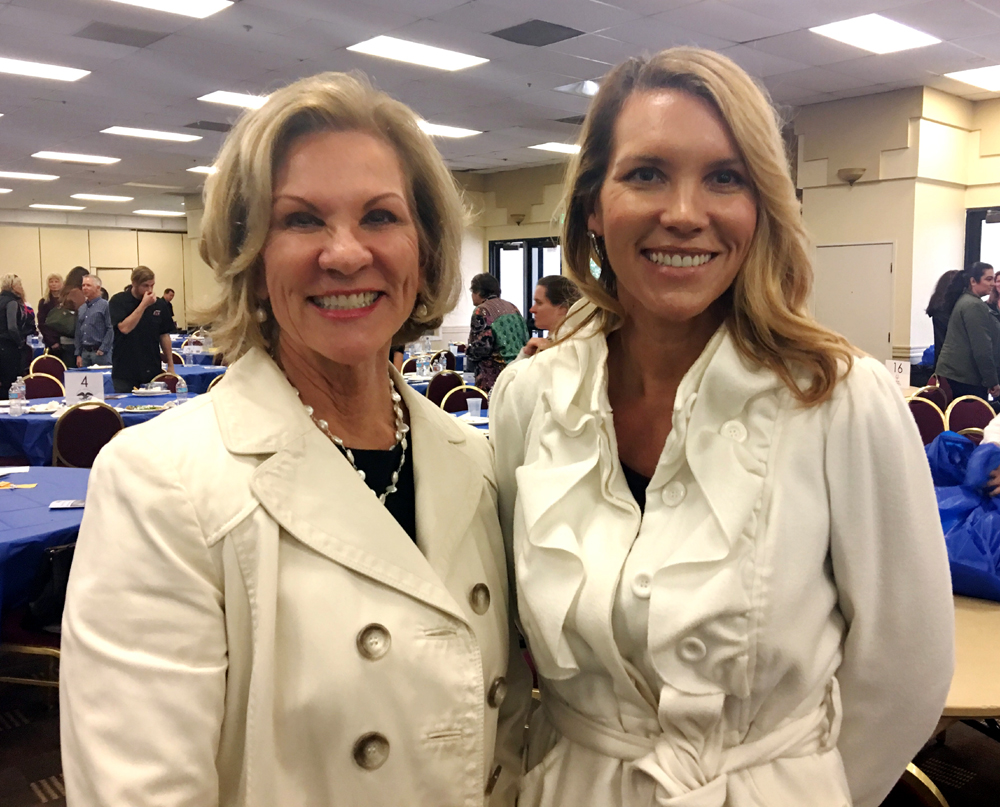 Top sponsor Renee Grubb, left, of Village Properties with Natalie Grubb-Campbell.
