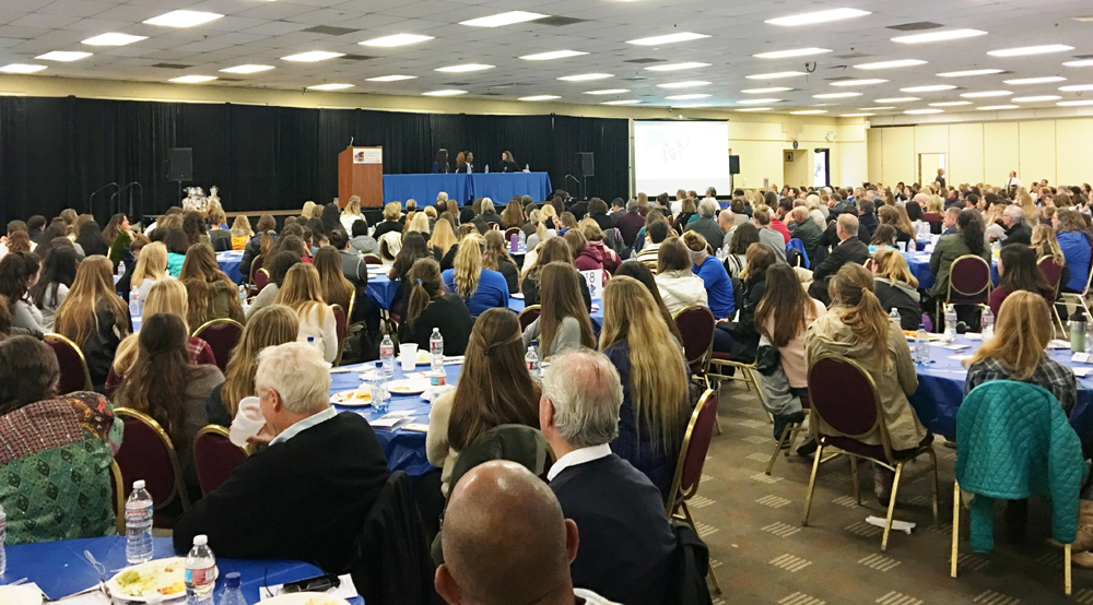 Nearly 500 attendees supported the Women & Girls in Sports Luncheon at the Earl Warren Showgrounds.