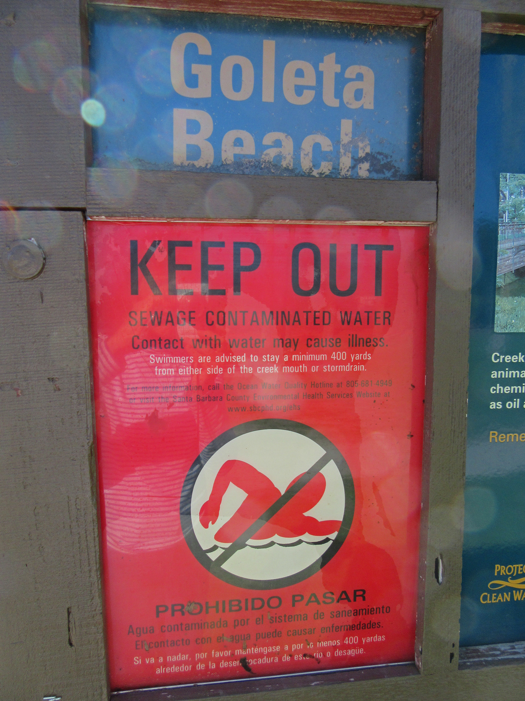 Digging out montecito means wider beaches dirtier waters off signs at goleta beach warn people to stay out of the ocean water nvjuhfo Gallery
