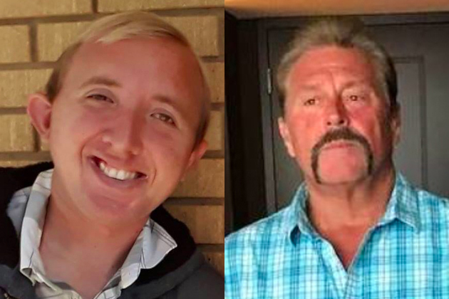 Jesse Gluyas, left, and Rick Motley died Thursday in a crash on Highway 135.