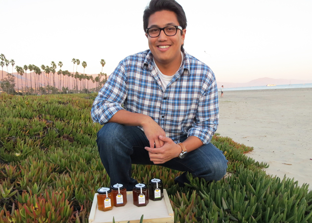 Ruben Sarino's Pacific Coast Honey business is an outgrowth of a class he took at Allan Hancock College in Santa Maria. (Gina Potthoff / Noozhawk photo)