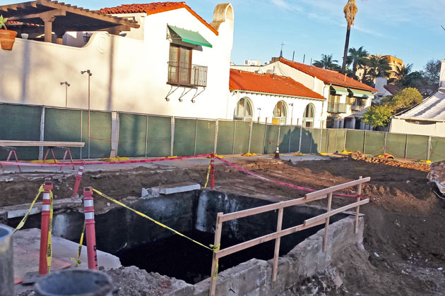 An underground tank used for the former Arlington Hotel's fuel was discovered during construction for the Arlington Village project.