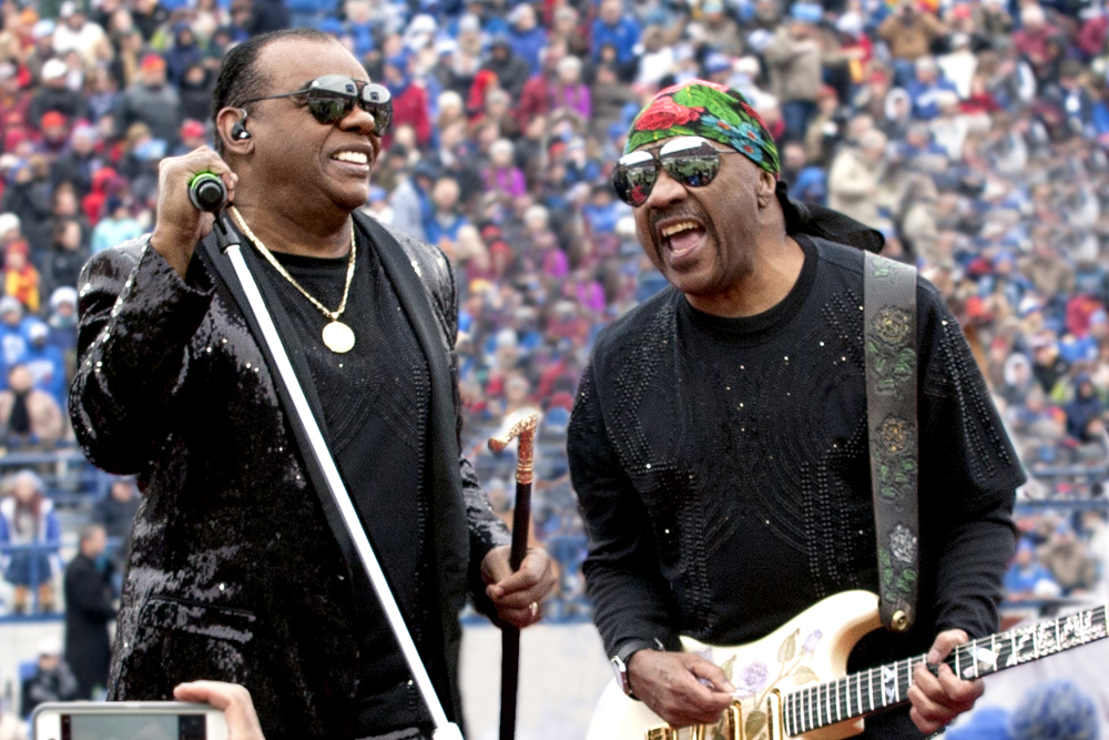 The Isley Brothers — Ronald is on the left, and Ernie is on the right — will perform at the Chumash Casino Resort on Feb. 16.