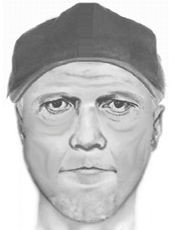 The Sheriff's Department created this sketch of the suspect using details recalled by the victim.