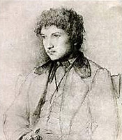 Charcoal sketch of Émile Paladilhe when he was about 18.
