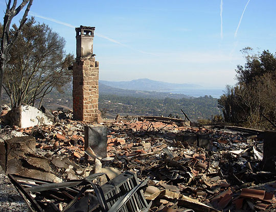 The Tea Fire left utter devastation behind, destroying 230 homes, a significant portion of the Westmont College campus and Mount Calvary Retreat House & Monastery.