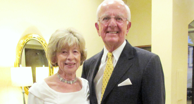 <p>Sue and Ed Birch, recipients of Life Chronicles' Father Virgil Remarkable Life Award, before Thursday night&#8217;s ceremony at Fess Parker&#8217;s DoubleTree Resort.</p>