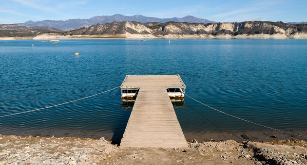 <p>Water levels at Lake Cachuma have gotten so low that gravity will no longer be able to direct water to South Coast users, so a pump will have to be installed to remove the remaining water.</p>