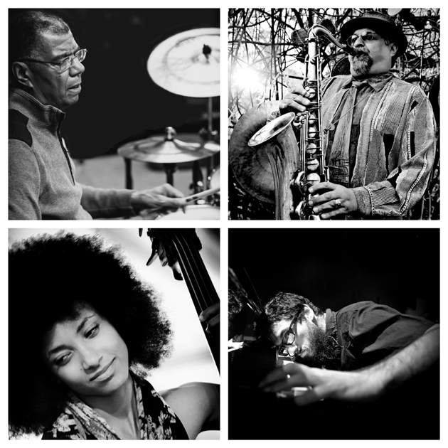 <p>Jack DeJohnette, top left, Joe Lovano, Esperanza Spalding and Leo Genovese will bring their jazz explorations to the Lobero Theatre on Tuesday night.</p>