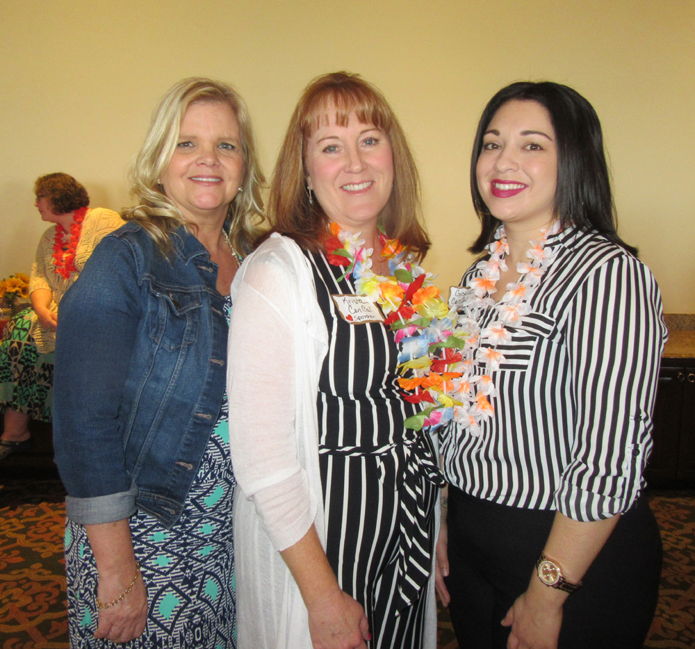 Sponsor CenCal Health was represented by Theresa Scott, left, Krista Vega and Gisela Taboada.