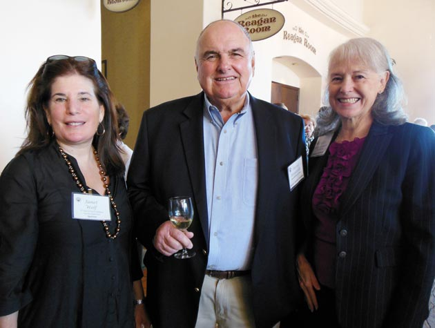 <p>Santa Barbara County Supervisor Janet Wolf, left, sponsor David Borgatello and Marti Correa-Garcia enjoy the Friendship Center&#8217;s 14th annual Festival of Hearts at Fess Parker&#8217;s DoubleTree Resort.</p>