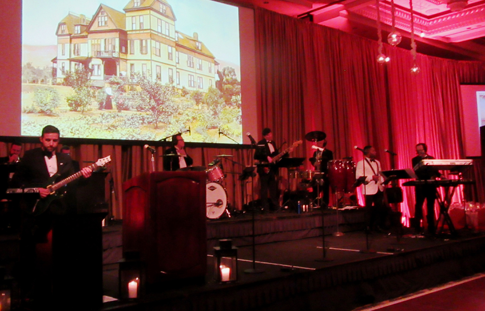 A 10-piece live orchestra entertains at the Tiara Ball.