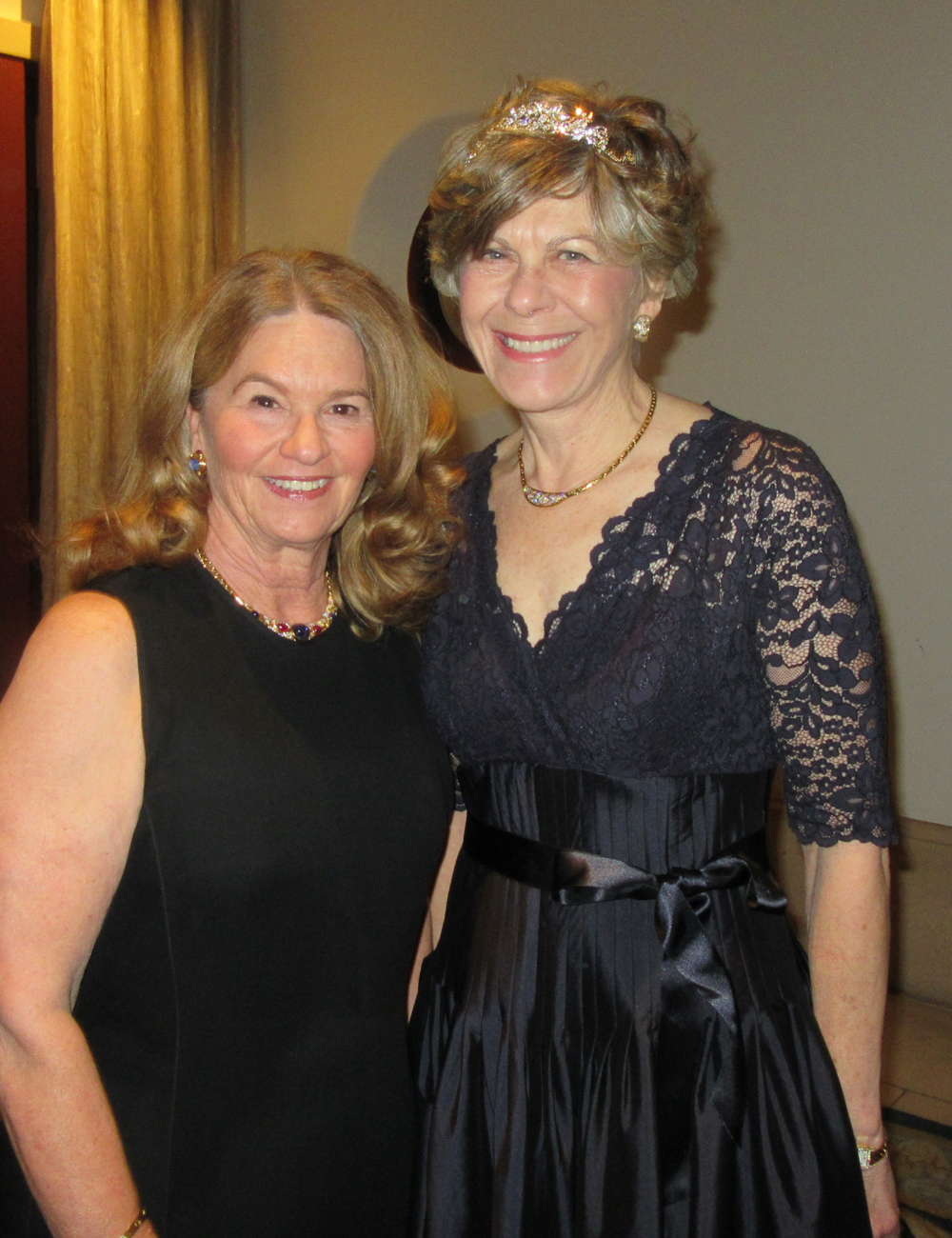 Marian Sprague, left, with friend and Solitaire Sponsor Bobbie Kinnear.