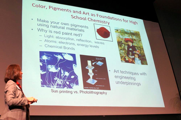 Caltech's Katherine Faber discusses how materials research into the paints used by artists could translate into a high school chemistry lesson.