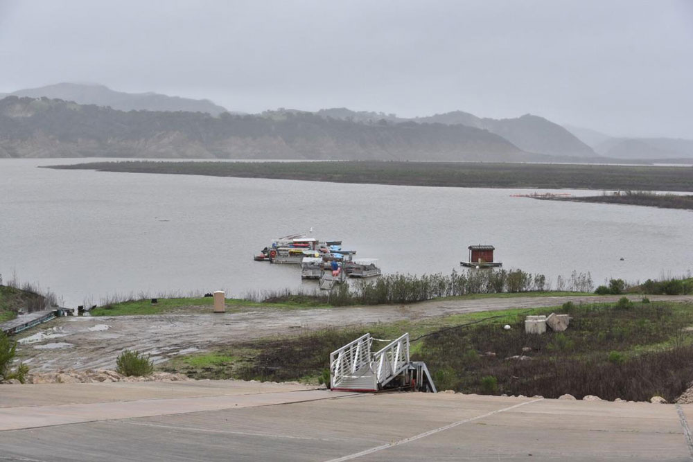 Lake Cachuma's water level has risen enough with recent rains that officials decided to disconnect the emergency pumping barge that was used to get reservoir water to the South Coast.
