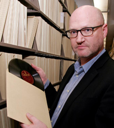 David Seubert, acting director of the UCSB Library's Department of Special Collections, is overseeing the process of cataloging the roughly 18,000 discs from the Pecourt and Bastin holdings. (Rod Rolle photo)