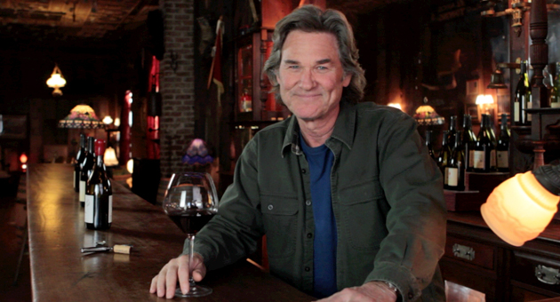 Kurt Russell was pouring on the charm last weekend at the 1880 Union Hotel & Saloon in Los Alamos, but we'll wait for Kate. (Gogi Wines photo)