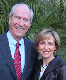 Incoming board president Alan Wyner with outgoing president Lauren Katz. (Laura Wyatt photo)