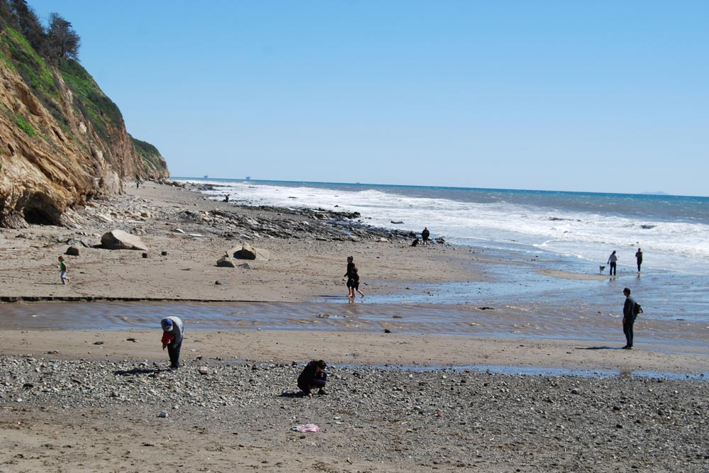 High levels of bacteria have been found at 15 county beaches, including Arroyo Burro Beach County Park, where the Arroyo Burro Creek flows into the ocean.