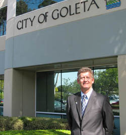 Goleta Mayor Eric Onnen wants the city's residents to receive a larger portion of property tax revenue, some of which goes to the county through a revenue neutrality agreement