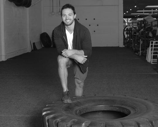 Casey Gutierrez is a boot camp fitness instructor at Fueled Sports Performance on State Street, which utilizes climbing walls, artificial turf, medicine balls — even giant tractor tires.