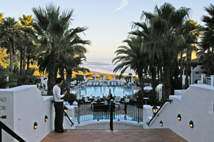 A pool with views of the coastline is just one of the many amenities at the Bacara Resort & Spa in western Goleta, which has been sold to Pacific Hospitality Group. (Tom Bolton / Noozhawk photo)