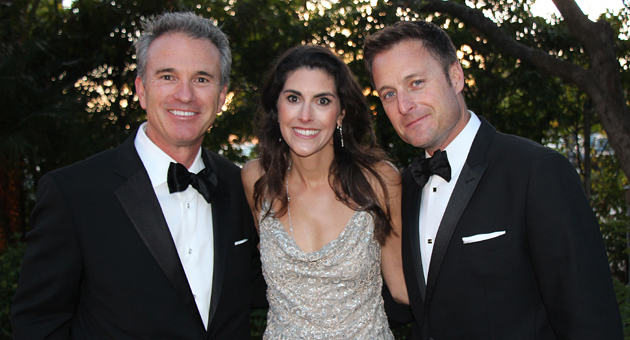 <p>Thomas Tighe, left, president and CEO of Direct Relief, with Kerri Murray, Direct Relief&#8217;s vice president of marketing, development and communications, and emcee Chris Harrison, host of ABC's &#8220;The Bachelor,&#8221; at the Santa Barbara Vintners&#8217; Foundation&#8217;s Santa Barbara Wine Auction on Saturday to benefit Direct Relief.</p>