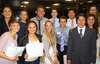 Twelve local students received $100 Ambassador Awards. (Judy Crowell / Noozhawk photo)