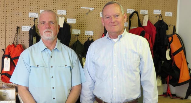 <p>CMC Rescue founder Jim Frank, left, and CEO Rich Phillips were college roommates at Cal Poly San Luis Obispo before going into the rescue equipment making business together.</p>