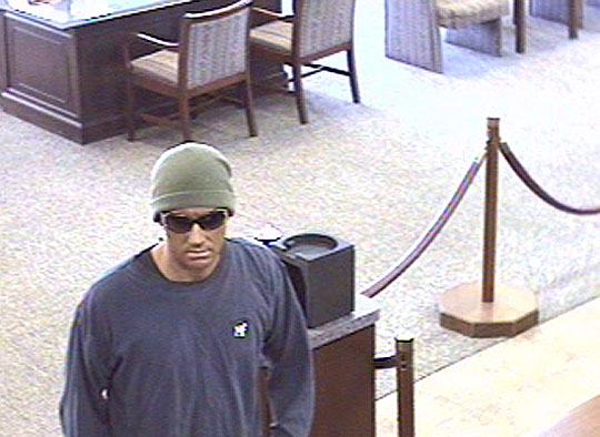 Anyone who can identify the suspect in Friday's Rabobank holdup is asked to call the Santa Barbara County Sheriff's Department at 805.681.4168.