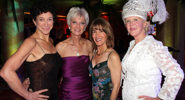 <p>Amethyst Ball honoree Debby Davison, second from left, with co-chairs Joyce Dudley, Anne Smith Towbes and Gerd Jordano. The 28th annual fundraiser benefitted the Council on Alcoholism and Drug Abuse.</p>