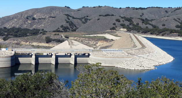 Although Lake Cachuma is more than 25 feet below spill level, local water managers say they are not worried about water supplies. (Gina Potthoff / Noozhawk photo)