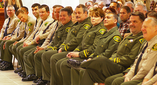 <p>Twelve Santa Barbara County Sheriff&#8217;s Department staff members were promoted Monday during a ceremony in Santa Barbara.</p>