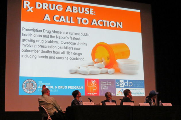 A panel of experts gathered at the Isla Vista Theatre last week to discuss the dangerous rise in prescription drug abuse.