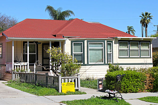 This single-family home will be demolished to make room for a seven-unit apartment building on the 1800 block of Castillo Street, a project that was upheld on appeal Tuesday by the Santa Barbara City Council.