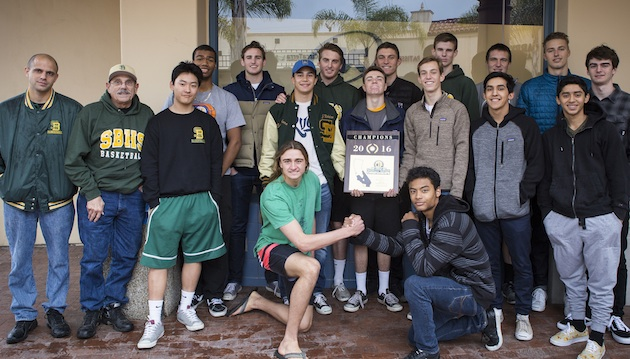 The Santa Barbara High boys basketball team was honored at Monday's Round Table press luncheon after winning the CIF 2A Division title.