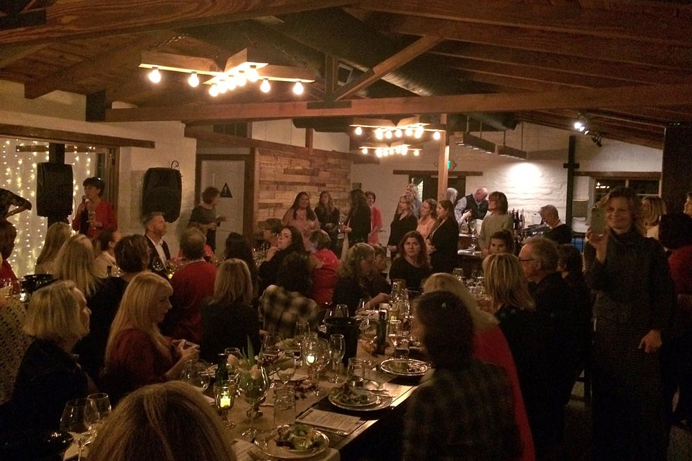 A sellout crowd packed K'Syrah Farm to Table Catering March 8 in Solvang on International Women's Day. Among the winemakers pouring for the event was Sonja Magdevski, right, owner/winemaker of Casa Dumetz in Los Alamos.
