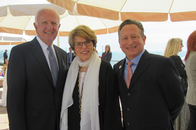 Santa Barbara Foundation President Ron Gallo, right, celebrates with 73rd Man of the Year Ed Birch and 73rd Woman of the Year Vicki Hazard.