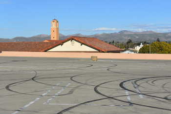 Tire marks left by drivers is among activity in parking lots that Santa Maria officials hope to end through a new ordinance.
