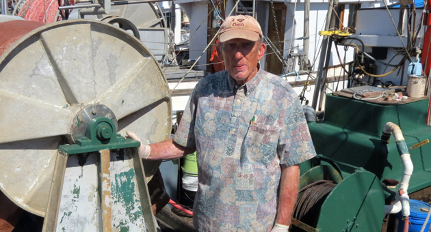 <p>Commercial fisherman Mike McCorkle can&#8217;t get his 36-foot wooden fishing boat out of the Santa Barbara Harbor because it&#8217;s sanded in, which is taking a huge cut out of his income. Some smaller fishing boats have been able to get out of the harbor at high tide.</p>